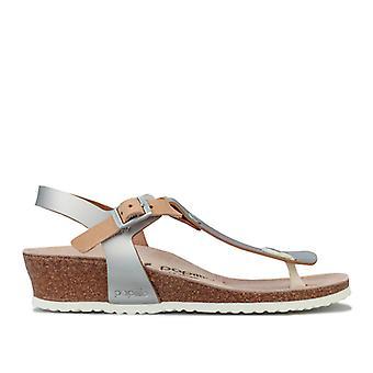 Women's Papillio Ashley Wedge Sandals Narrow Width in Silver