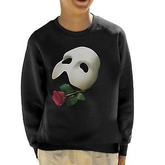 The Phantom Of The Opera Mask & Rose Kid's Sweatshirt