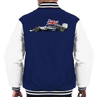 Motorsport kuvat Lewis Hamilton Yas Marina Circuit 2014 miesten ' s Varsity takki