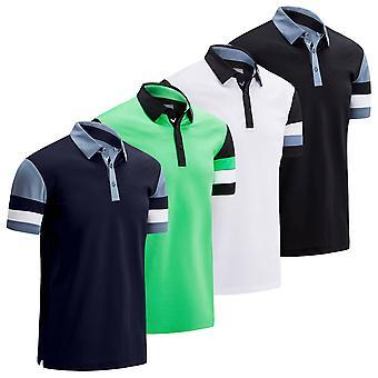 Callaway Golf Mens Colourblock Pique Wicking Stretch Polo Shirt
