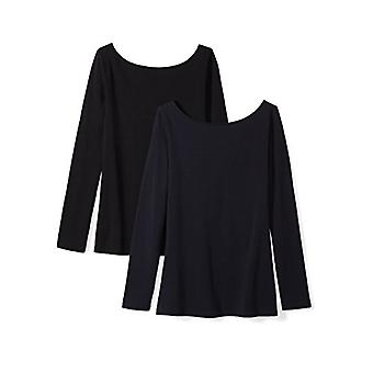 Brand - Daily Ritual Women's Stretch Supima Long-sleeve Ballet Back T-...