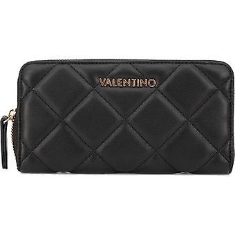 Mario Valentino Ocarina stora quiltade zip runt handväskan