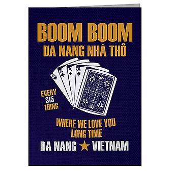 Fuld Metal Jacket Boom Boom Da Nang Vi elsker dig lang tid lykønskningskort