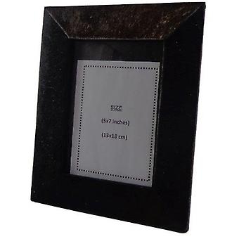 Deco4yourhome Cowhide Picture Frame Brown