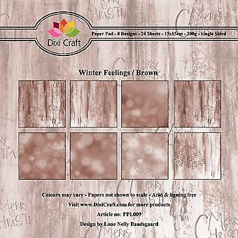 Dixi Craft Winter Feelings Brown 6x6 Inch Paper Pad