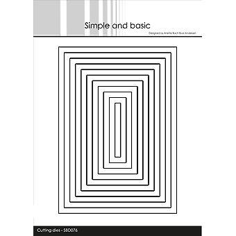 Enkel och grundläggande Rektanglar Dies