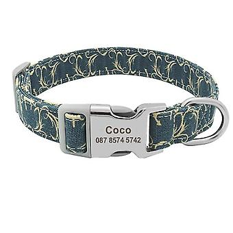 Customized Printed Engraved Puppy Id Name Collar For Small Medium Large Dogs