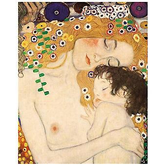Kunstdruck auf Leinwand - Die Drei Lebensalter Einer Frau (Detail) Gustav Klimt - Wanddeko, Canvas