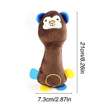 Cute Pet Dog Cat Plush Squeak Sound Dog Fleece Durability Chew Molar Toy Fit