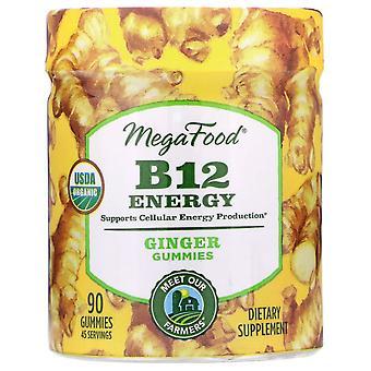 MegaFood, B12 Energie, Gember, 90 Gummies