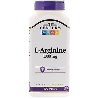 21ème siècle, L-Arginine, 1000 mg, 100 comprimés