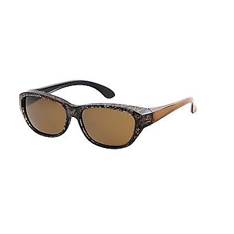 Sunglasses Women's Brown with Brown Lens Vz0027px