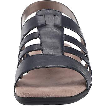 LifeStride Women's Shoes Edina Leather Open Toe Casual Strappy Sandals