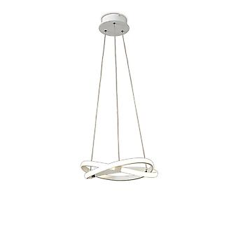 Inspired Mantra - Infinity WH - Plafondhanger 30W LED 3000K, 2500lm, Wit, Wit acryl