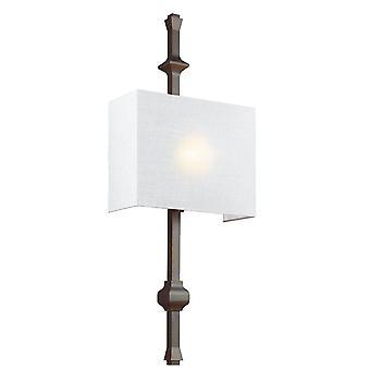 Elstead Teva - 1 Licht Indoor Wandleuchte Bronze, E27