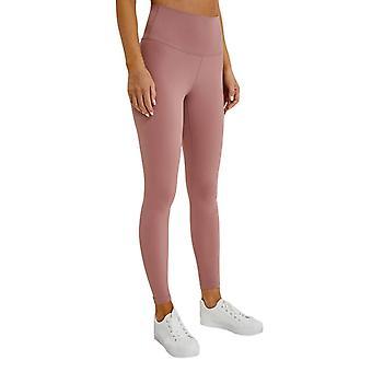 Kvinnor Yoga Tights hög midja Linning Pocket Seamless Ankle Leggings