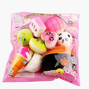 Mini Soft Bread Squeeze Toys Key Cute Squishy Package Rising Wipes Anti-stress