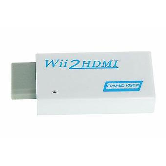 Wii to hdmi converter for nintendo wii console 1080p hd 3.5mm audio replacement - white | zedlabz
