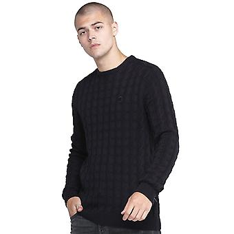 Police Hapes 7211 Cable Knitwear Jumper - Navy