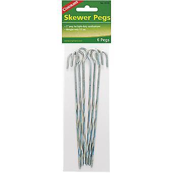 "Coghlan's 7"" Skewer Pegs (6 Pack), 3.5 oz Weight, Steel Camping Tent Stakes"