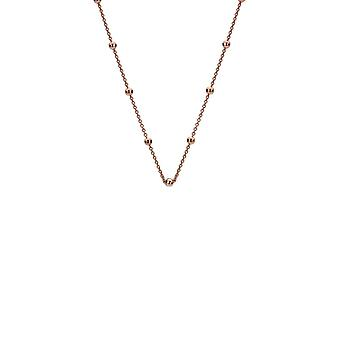 """Emozioni 24"""" Rose Gold Plated Sterling Silver Intermittent Bead Chain CH051 Emozioni 24 """" Rose Gold Plated Sterling Silver Intermittent Bead Chain CH051"""