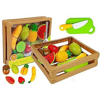 Kinderkeuken Fruit speelgoed set met handige opbergmand