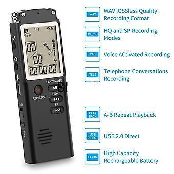 8gb/16gb/32gb Röstinspelare Usb ,professionell 96 timmar Diktafon Digital