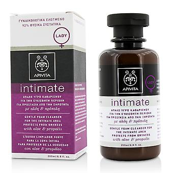 Intimate gentle foam cleanser for the intimate area protects from dryness with aloe & propolis 201149 200ml/6.8oz