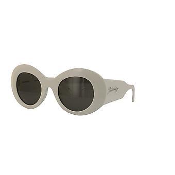 Balenciaga BB0120S 004 White/Grey Sunglasses