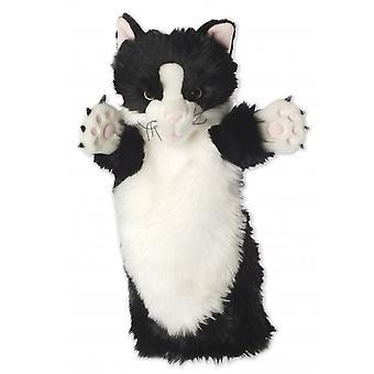 A Bábtársaság hosszú ujjú kesztyű báb fekete-fehér macska