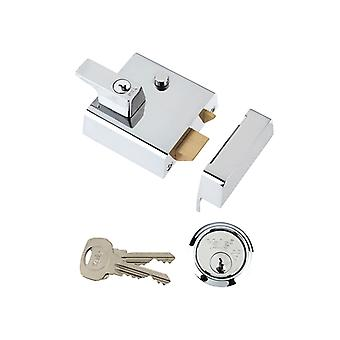 Yale YALP2CHNL P2 Double Security Nightlatch Chrome Finish 40mm Backset Visi