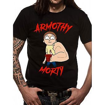 Rick et Morty unisexe adultes Armothy Morty design T-Shirt