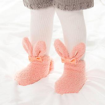 Newborn Autumn And Winter Coral Velvet Thickening Baby Foot Socks,