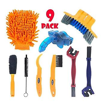 Bike Bicycle Chain Cleaner Scrubber Brushes, Mountain Wash Cycling Cleaning Kit