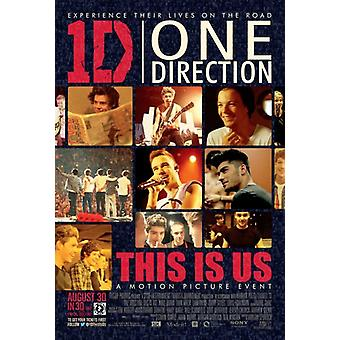 One Direction Movie Poster (11 x 17)
