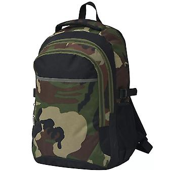 School backpack 40 L black and camouflage paint