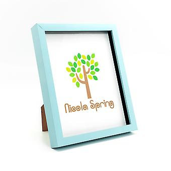 Nicola Spring Photo Frame - Acrylic Box Frame (Glass Cover) - 8x10in - Blue