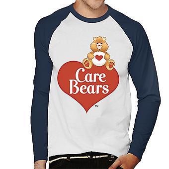 Care Bears Logo Tenderheart Bjørn Menn's Baseball Langermet T-skjorte