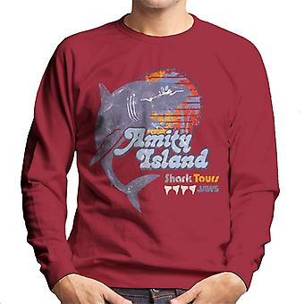 Jaws Amity Island Shark Tours Logo Men's Sweatshirt