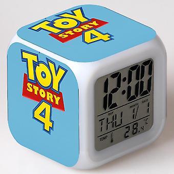 الملونة متعددة الوظائف LED الأطفال & apos;ق منبه ساعة -História دي brinquedo 4 #10