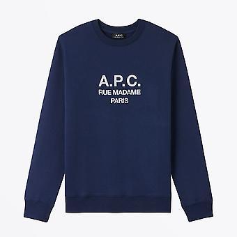 A.P.C.  - Rufus - Pulover logo brodat - Burgundia