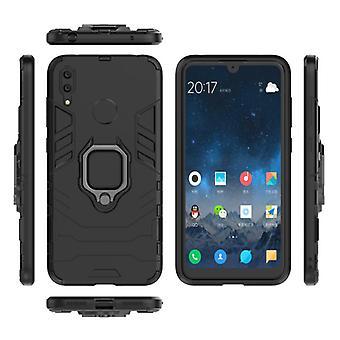 Keysion Huawei Honor 10 Lite -kotelo - Magneettisen iskunkestävä kotelon kansi Cas TPU Musta + Jalusta