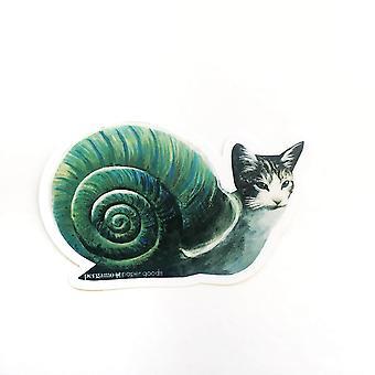 Adesivo de vinil de gato caracol