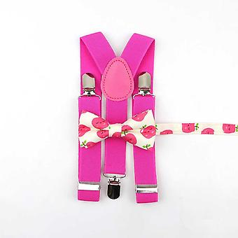 Lovely Cartoon Părinte-copil Soled Bretele Bowtie Set Men Kids Accesoriu
