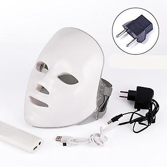 Led Facial, Rejuvenation Photon Light - 7 Colors Mask Therapy For Wrinkle,