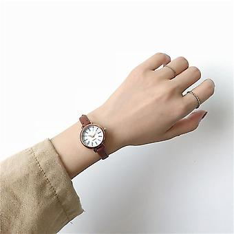 Retro Vintage Women Watches, Small Ladies Wristwatches, Leather Bracelet Clock