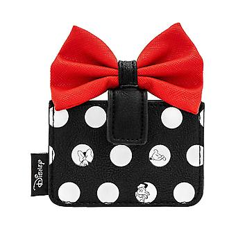 Minnie Mouse Purse Cardholder Minnie Polka Red Bow new Official Disney Loungefly