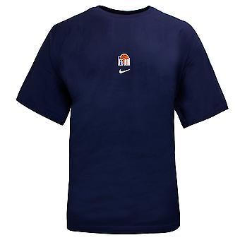 Nike Mens Alto Basquete T-Shirt Logotipo Gráfico Top Navy 737573 410