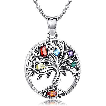 925 Sterling Silver Pendant, Tree of Life Necklace for Women Girls