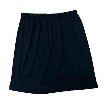 Women Elastic Waist Short Petticoat, Stretch Satin Inner Wear Skirt, Soft Half